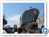 USNS Brashear pre-ceremony inspection